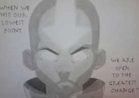 Aang in the Avatar State by shadedrainbow