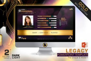 Legacy Powerpoint Template (Gold Edition) by dkasparov