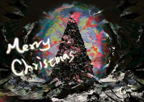 Merry Black Christmas by Mqobxvlc