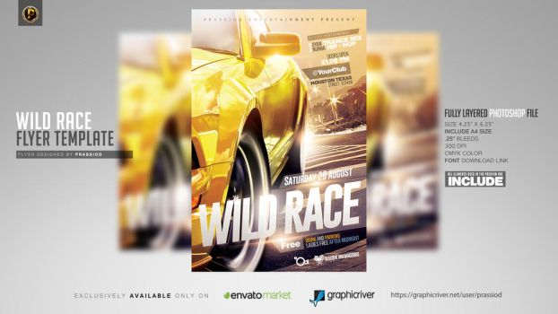 Wild Race Flyer Template by prassetyo