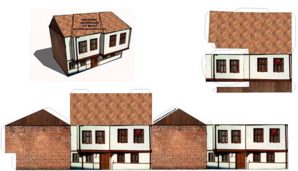 Papercraft Old House - Eskisehir Odunpazari Maketi by ostabah