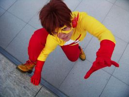 young justice: KID FLASH by paranoidiomatic