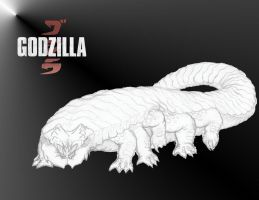Godzilla 2014 (i shall call him SQUISHY!) by kamakoa09