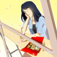 Commission_The girl and the sushi box! by YUMIXK0