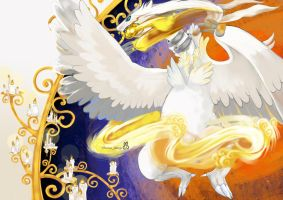 #643 Reshiram ,Pokemon black and white by griffin2100