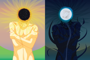 Yin and yang of summer and winter solstice by VisAnastasis