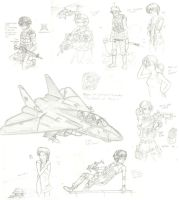 October 2012 Sketchdump by ND-2500