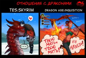DA and TES (Relationships with dragons) by Soltia
