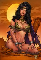 Dejah Thoris By Marico Abreu-colored by deffectx by hydr1555