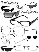 Eyeglass and Sunglass Brushes by Grungy6669