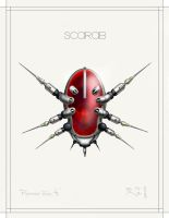 SCARAB-9 RED by Bartoleum