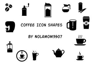 Coffee Icon Shapes by Nolamom3507 by Nolamom3507