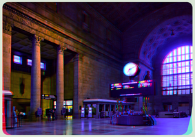 Union Station of Toronto 3-D :: Anaglyph HDR/Raw by zour