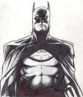 Batman Sketch by LeonardoEnrique