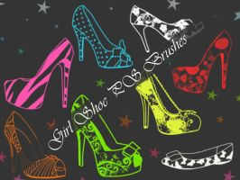 Girl Shoe Photoshop Brushes by petermarge