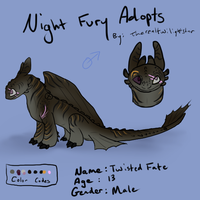 Night Fury Adopt #4 - CLOSED by therealtwilightstar
