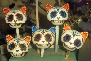Day of the Dead Micro Trikkies WIP 2 by ReverendBonobo