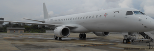 Plane 20140906 _ Lineage 1000 by Embraer by K4nK4n