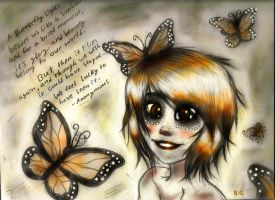 Butterfly Note by Chourios