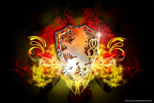 Gryffindor (Grifinoria) Stylized Coat of Arms by DixB2