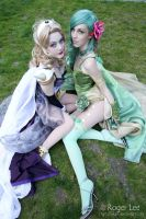 Rosa and Rydia by DigitalHikari