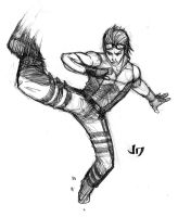DSC - Hwoarang by arsenalgearxx