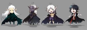 AA Chibis - Cape party !! by Moonania