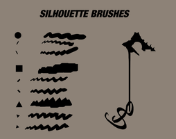 Silhouette painting brushes by RobertoGatto