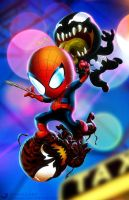 Spider-Man in 'Maximum Baby Carnage' by ogi-g