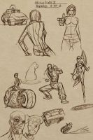 Sketches aug 25 by NelsonBlakeII