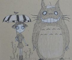 My Neighbor Totoro in Tim Burton style by SleepyNoodleDoodles