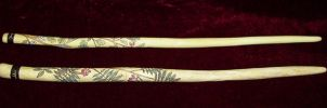 Rowan and Hawthorn Wands by Lolair