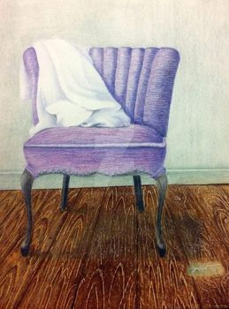 Chair for Art Class - Colored Pencils by InstinctbyLaw