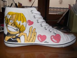 One Piece shoes: Sanji by mirimmd