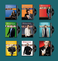 House M.D. Folder Icons by prestigee