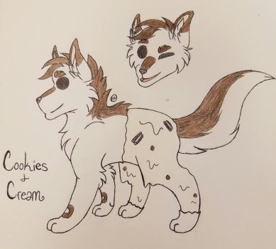 COOKIES AND CREAM- Pupscicle by Grimmstar-Reaper