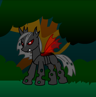 My first Changeling OC Lieutenant Pyrax by LR-Studios