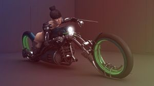 Schnuckelchens Hobel - Cyborg MotorCycle by Rowoss
