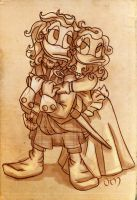 Outlander (sepia sketch) by Narya91