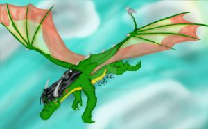 another pic of me dragon self by elementalgoddragon