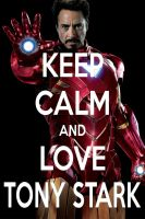KEEP CALM AND LOVE TONY STARK by AMEH-LIA