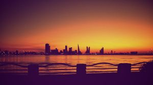sunset in Bahrain by gunnerzz
