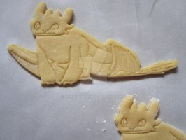 Toothless Cookie Unbaked by B2Squared