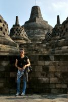 me in Borobudur Temple by ivylollipop