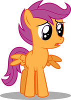 Sad Scootaloo by Soren-the-Owl