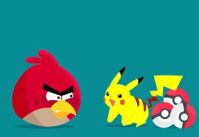 Angry Birds Meet Pokemon by chenjie