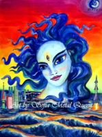 Ghost of Atlantis. 3-eyed lady with blue hair by SOFIAMETALQUEEN