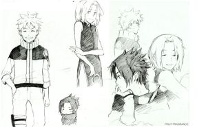 Naruto Sketches by Fruit-fragrance