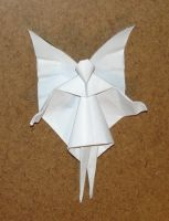 Christmas Tree Fairy origami by pandaraoke