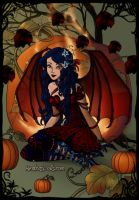 DARK FIRE PUMPKIN QUEEN FAIRY by severusluv5
